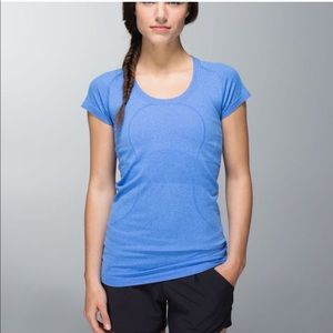 Lululemon Swiftly Tech Short Sleeve Scoop 10 blue